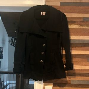 Black soft cotton jacket. Perfect for Spring.